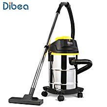Dibea DU100 Household Barrel Type Wet / Dry Vacuum Cleaner Cleaning Machine BLACK EU