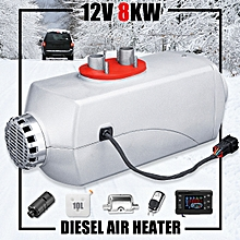 5KW 12V Diesel Air Heater Metal Shell LCD 10L Tank For Trucks Boat Cars Trailer