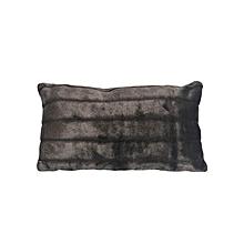 Velvet Cushion - Small - Black with Stripes