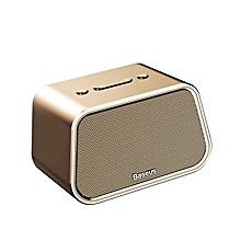 Baseus Bluetooth Speaker Mini Portable Outdoor Wireless Speaker 3D Stereo Music Surround Player (Gold) FCJMALL