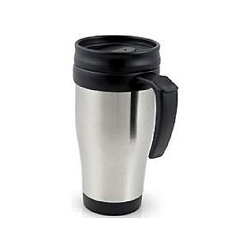 Coffee Tea Travel Mug Stainless Steel Vacuum Flasks Silver and Black