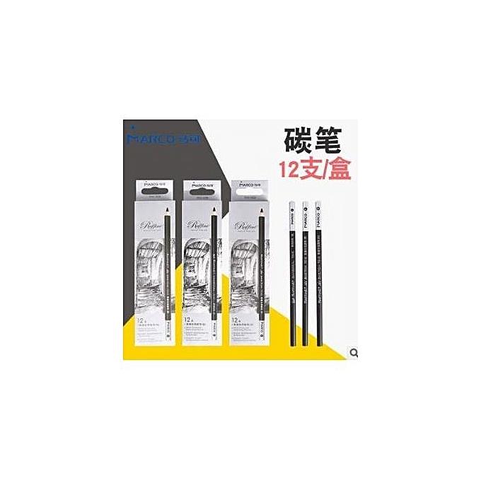 ... 12pcs/Lot Charcoal Pencil Set Professional Art Drawing Sketching Pencils School Stationery