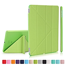 2-in-1 PC Companion Case + Origami Stand Smart Leather Cover for iPad 9.7 inch (2017) - Green Mll-S