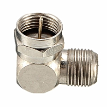 TV Antenna Cable Connector F-Type Male To Female Right Angle Adapter- 90 Degree