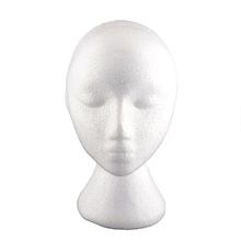 Female Styrofoam Foam Manikin Head Mannequins Display Wig Glasses 53.5cm