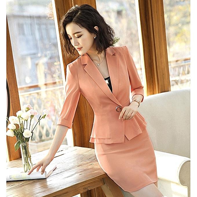 4805cb4006ebf ... New arrivel Sleeve Professional Pants Formal Office Lady Tops-orange-S