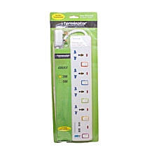 TPB 914 2USB - 4-way + 2USB(2.1amp) Power Extension Socket 13A Plug -3M