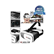 3D Virtual Reality Glasses - 2nd Generation - White
