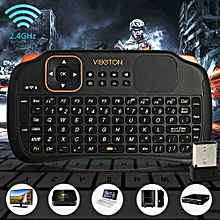 Viboton S1 All-in-One 2.4G Wireless Keyboard Air Mouse Remote Controller with Touchpad for Computer Projector TV Box Tablet etc.-BLACK
