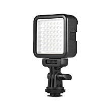 Andoer W49S Mini Dimmable Interlock LED Video Light Fill Light 6000K CRI90+ With Rotatable Shoe Mount Adapter for  Nikon Sony Pentax Panasonic DSLR Cameras
