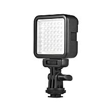 Andoer W49S Mini Dimmable Interlock LED Video Light Fill Light 6000K CRI90+ With Rotatable Shoe Mount Adapter for  Nikon Sony Pentax Panasonic DSLR Cameras