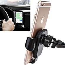Rotatable Universal Car Air Vent Phone Holder Stand Mount, For iPhone, Galaxy, Sony, Lenovo, HTC, Huawei, and other Smartphones(Black)