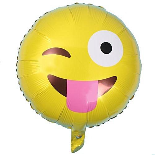 Generic Technologg Home Decor Foil Emoji Helium Balloon Happy Birthday Party Decoration Yellow