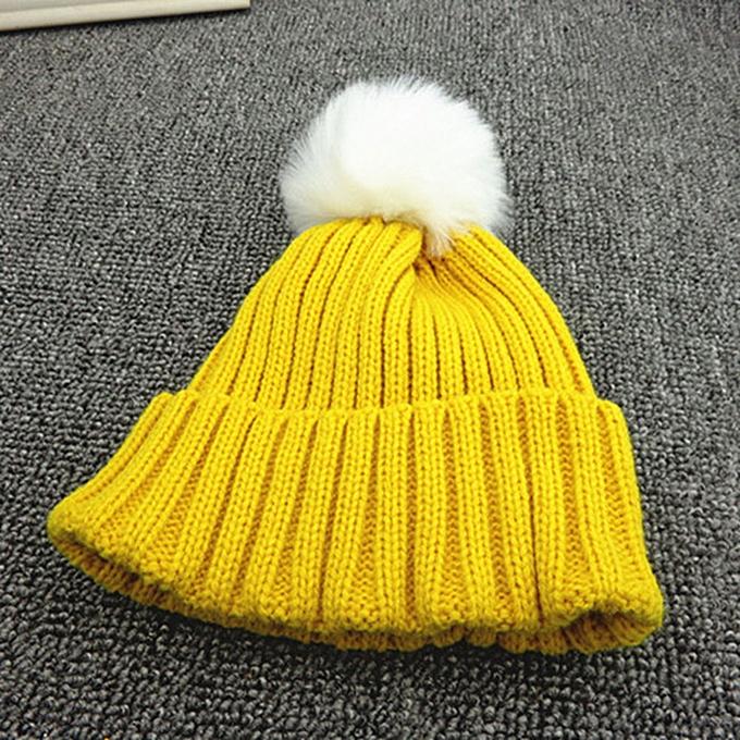 91b6bc3375b837 Hiaojbk Store Kids Toddler Children Warm Knit Beanie Hat Boys Girls Fur Pom  Bobble Crochet Cap