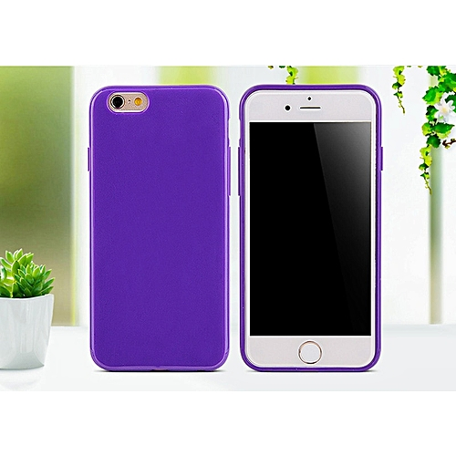 best authentic c5f05 acbfc for iphone 6 6S case SIXEVE Candy Colors Silicone Case Cell Phone Back  Cover-Dark purple