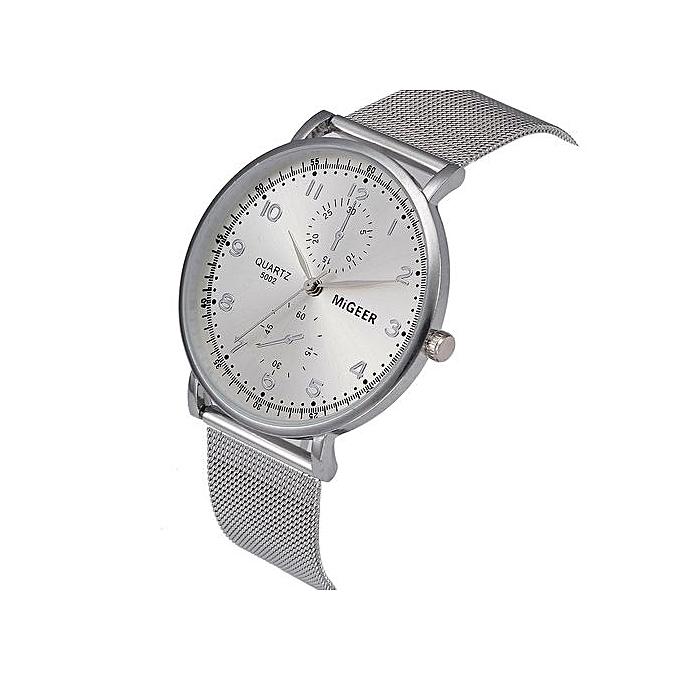 Henoesty Classic Women s Men s Wrist Watch Steel Strap Quartz Casual ... 85b51bd146