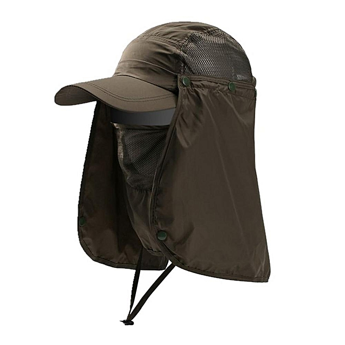 1aab026bf Quick Dry Breathable Sun Cap Detachable Removable Uni Outdoor Sports  Fishing Hiking UV Protect Face Neck Cover Sunshade Hat(1)
