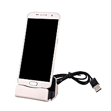 Desktop Charging Dock Charger Station Stand For Mirco USB Phone Gold