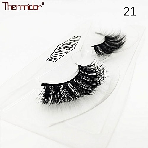 b7f7f2f4ee4 Generic 3D Real Mink Lashes Thick 3d Mink Hair Lashes High Quality Soft  Cross Natural Fake Eyelashes Reusable Eye Lash(21)