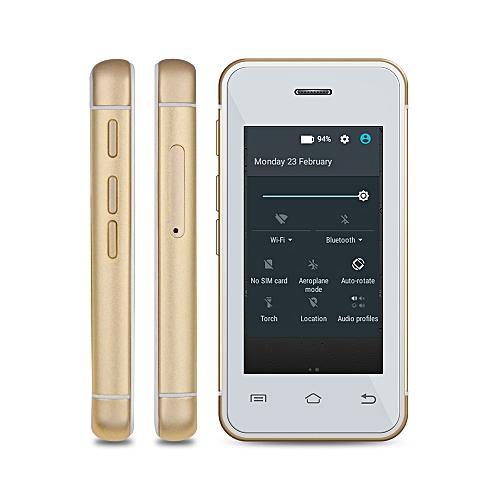 MELROSE S9 2.4 inch Androrid 4.4 Ulta-thin Mini 3G Smart Phone MT6580 Dual Core 1.2GHz 512MB RAM 8GB ROM Bluetooth Camera WiFi ( EU Plug )-GOLDEN