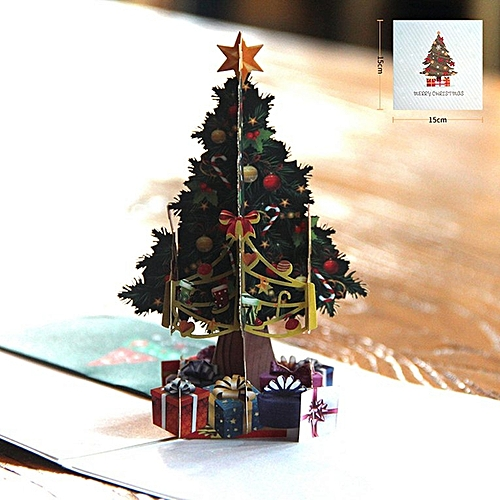 82e071f2035 Generic 3D Hollow Carved Christmas Tree Card Pop Up Cards Laser Cut For Day  Colorful. By Generic. Have one ...