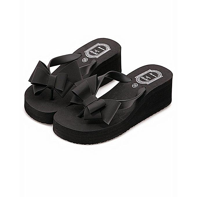9a1ba27338efe6 Generic Women s Bow Series Summer Flip Flop Beach Sandals Shower ...