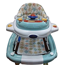 2 in 1 Baby Walker/Rocker -  Teal/white