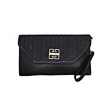 Black Shoulder Bag/ Baguette