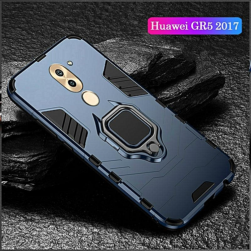 innovative design cd149 f43ef Shockproof Armor Stand Case For Huawei GR5 2017 With Holder Ring Cover  Cases For Huawei GR5 2017 Car Magnet Phone Casing Housing (GR5 2017-Blue)