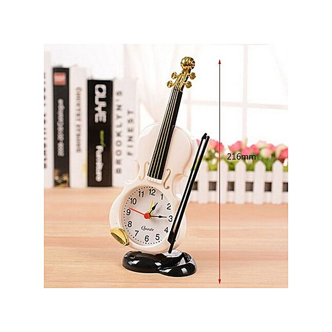 Generic uniqe instrument table clock violin gift home for Home decorations on jumia