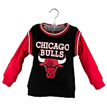 Black and Red Chicago Bulls Basket Ball Top for Kids