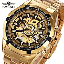 1cb532225be 2018 New Golden Watches Top Luxury Brand Men  039 s Sports Automatic  Skeleton Man