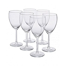Wine Glasses - 6 Pieces - Clear
