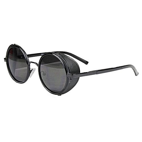 d4d3734d9509 Fashion Mirror Lens Round Glasses Cyber Goggles Steampunk Sunglasses  Vintage Retro