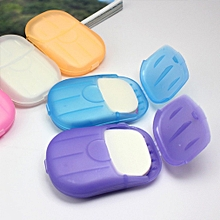 20 Pcs Paper Soap Outdoor Travel Bath Soap Tablets Portable Hand-washing
