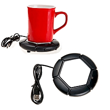 Football Design USB Electronic Mug Cup Warmer Tea Coffee Drinks Heating Mat Pad with On/Off Switch.