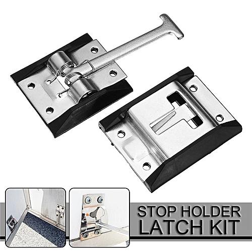 Metal RV Camper Horse Work Enclosed Trailer Door Stop Holder Latch Kit