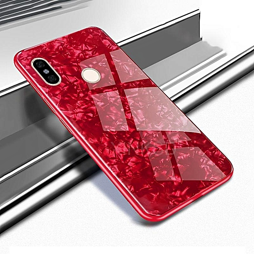 wholesale dealer f4bbd 3b77d For Redmi 6 Pro Luxury Hard Tempered Glass Case Marble Shell Pattern Design  Glass Back Cover For Xiaomi Redmi 6 Pro Redmi6 Pro Housing