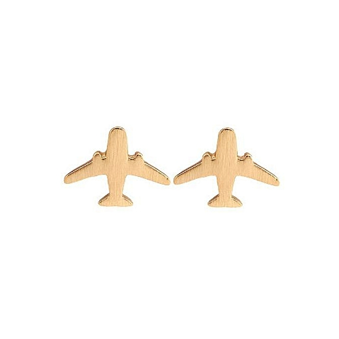 Tanson New Design Plane Women Stud Earring Jewelry Party Airplane Gift Cute Lady Aircraft Earrings