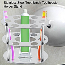 Stainless Steel Toothbrush Toothpaste Holder Stand Mount Stand