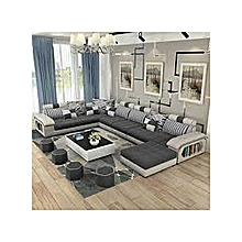 Audreyd 8 Seater Sectional Sofa Set  (Free Centre Table)