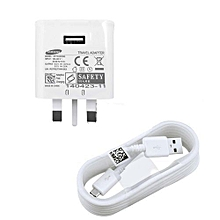 Charger for -  Note 5, A5/ A7S6/ S7/ S7 Edge/S6 Edge Plus - White