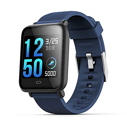 Versea Q9 smartwatch with heart rate monitor blood pressure clock smart  watch support Facebook WhatsApp For IOS Android 4 3 (Blue) WANKAI