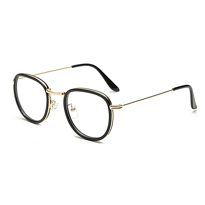 b23e8ff2e84 Buy Fashion Men Women Metal Round Retro Glasses Ultra Light Frame ...