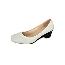 Light Grey Women's Smooth Edged Square Toe Low Heel