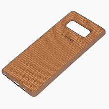 Galaxy Note 8 Soft Silicon Weave Pattern Case - Beige