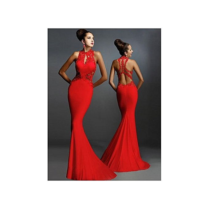 Grace Women S Evening Dresses One Piece Dress Backless Fish Tail Trailing Y