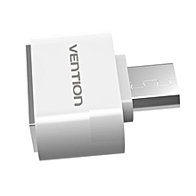 Vention Micro USB2.0 Male Connector To USB2.0 Female Converter Adapter (White) GOODHD
