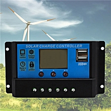 10/20/30A USB Solar Panel Battery Regulator Charge Intelligent Controller 12/24V 10A