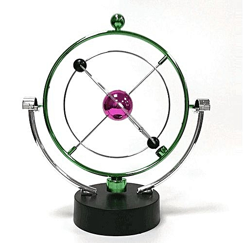 Home Electronic Perpetual Motion Desk Toy Revolving Balance Balls Physics Science Toy Game Educational Science Toys For Children